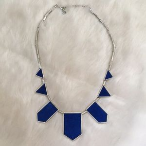 House of Harlow Exclusive Cobalt Station necklace